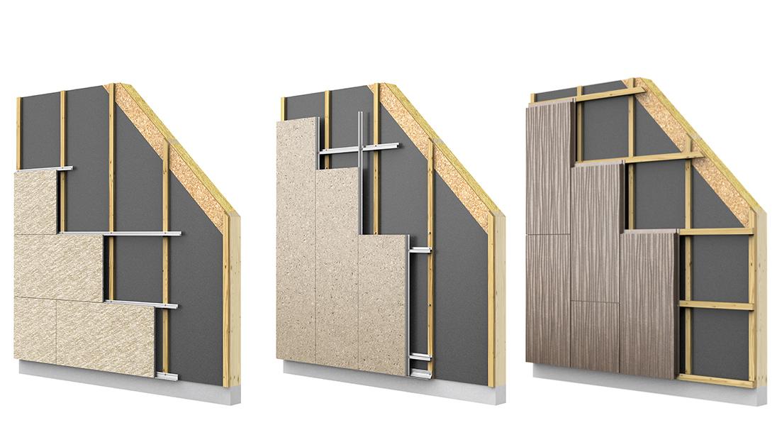 Parement de façade, Bardage Support de pose construction ossature bois