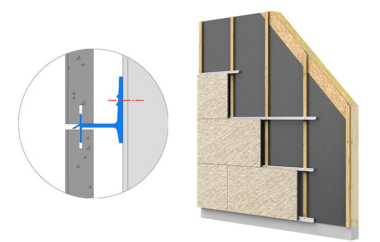 Parements de façade rainurés ; système de bardage