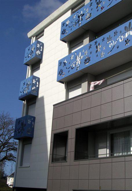 Résidence Saint-Nazaire, bardage sans ossature Carea