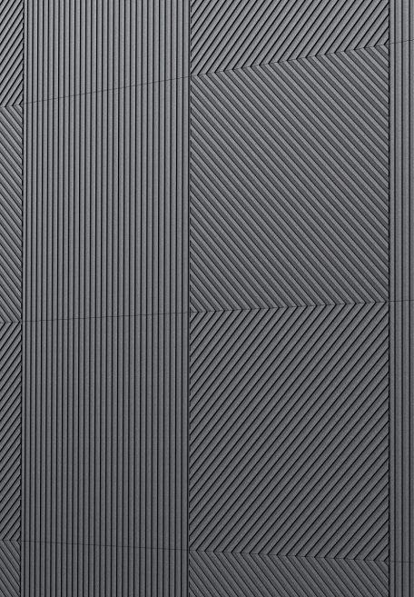 Aspect minéral Carea MECA, pour une façade graphique (bardage avec ossature et sans ossature, vêture)