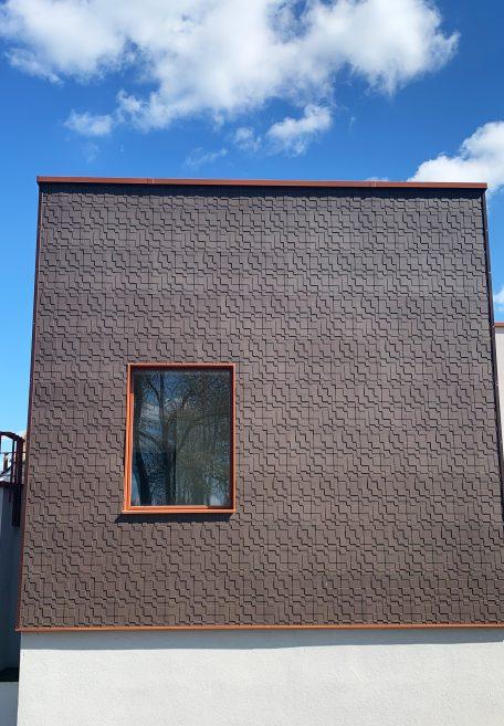 Façade Foyer jean moulin - Egly 91 - Bardage Sans Ossature (BSO)